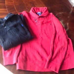 Ralph Lauren Cotton Shawl Collar Sweatshirt